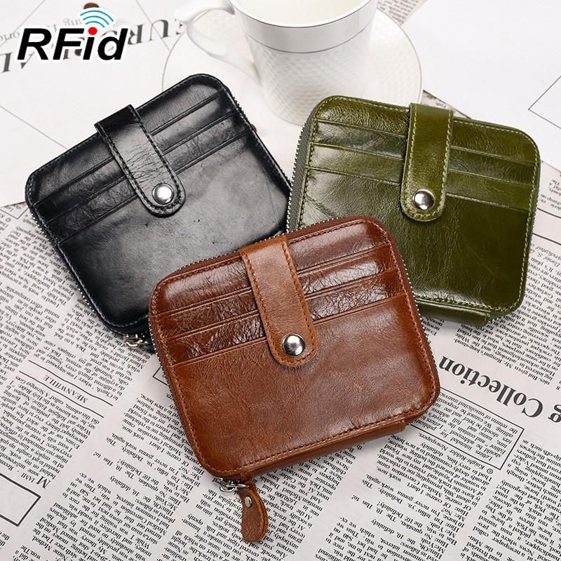 Wallet Slim Money Credit Card Holder ID Business Men Women Leather Purse Handbag