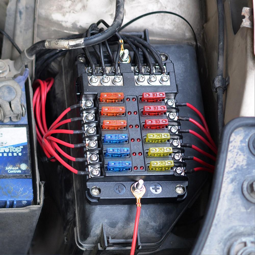 universal automotive fuse box universal car blade fuse box automotive circuit fuse block holder  universal car blade fuse box automotive