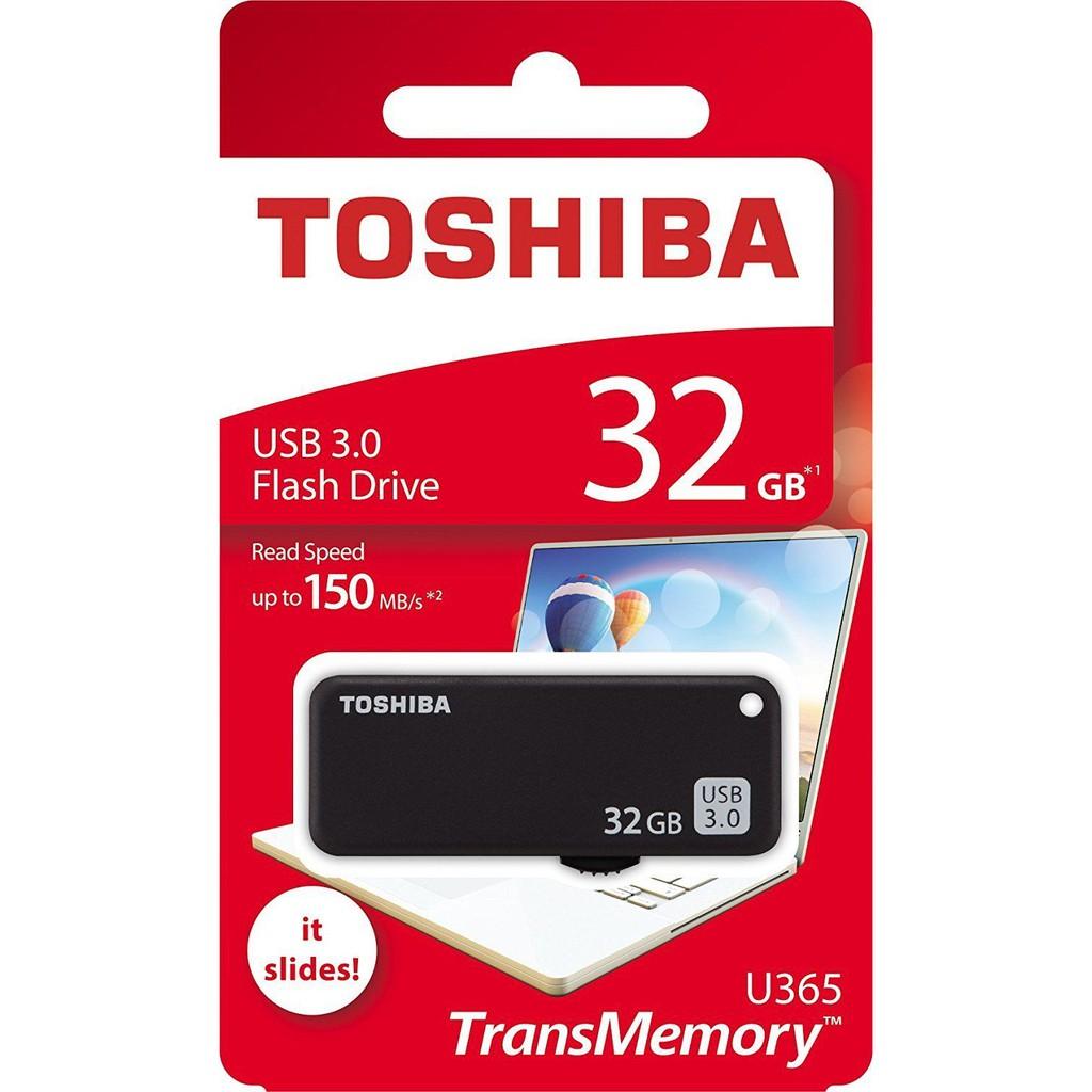Toshiba TransMemory Yamabiko U365 32GB USB 3.0 Flash Drive 150MB/s THN U365K0320