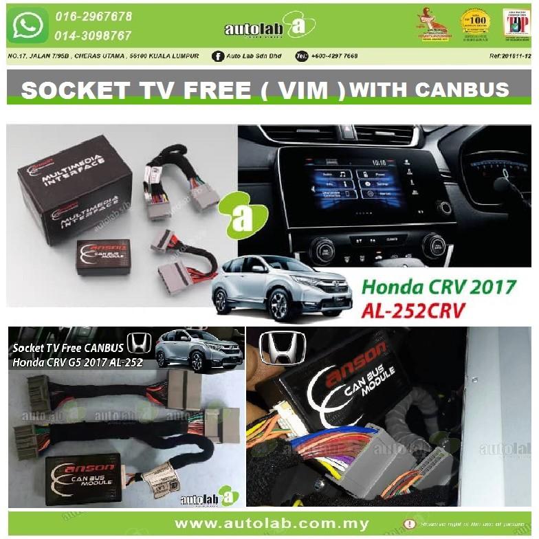 Socket TV Free (Bypass VIM) With CANBUS ANSON  HONDA CRV 2017-2018 AL-252CRV