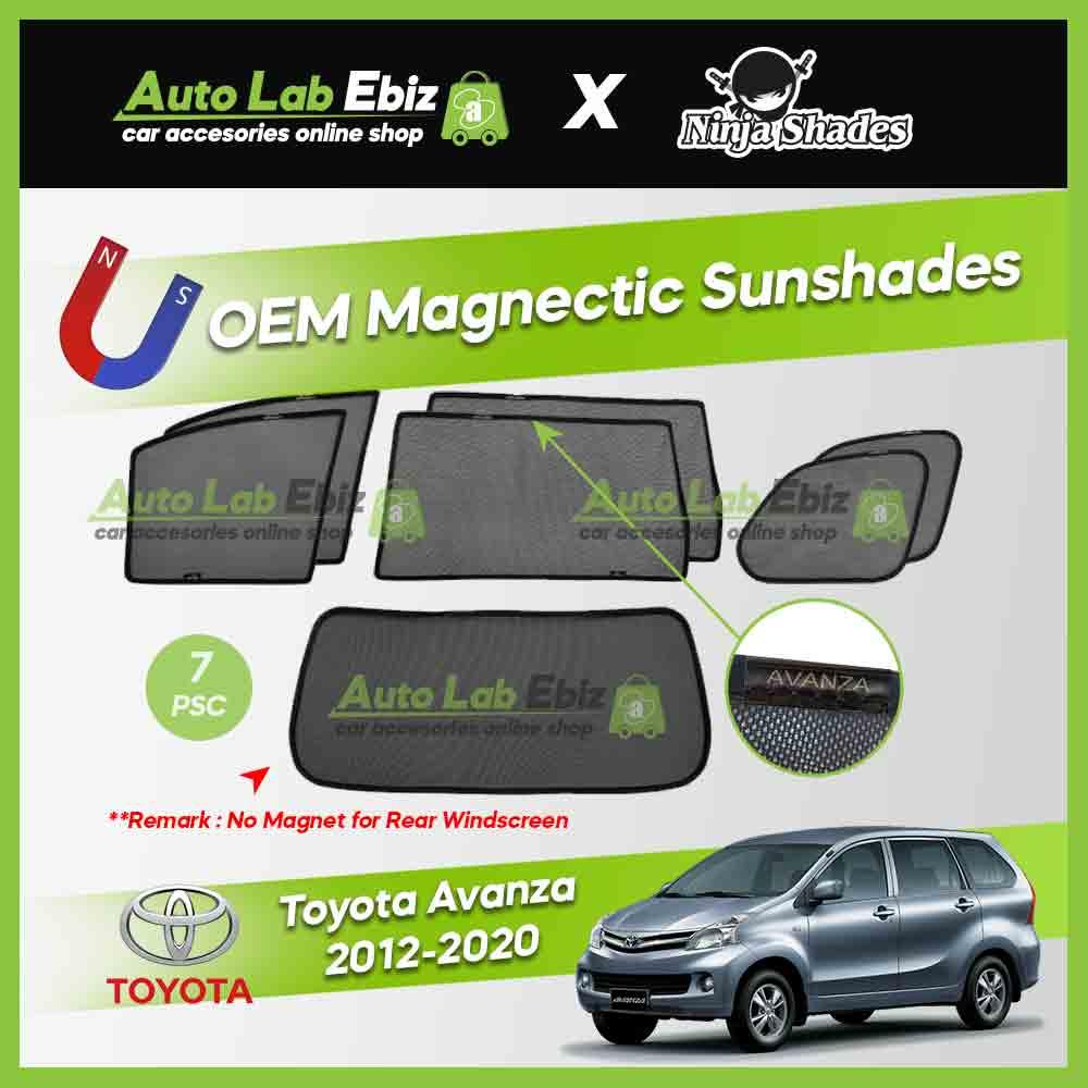 Toyota Avanza 2012-2020 Ninja Shades OEM Magnetic Sunshade (7pcs)