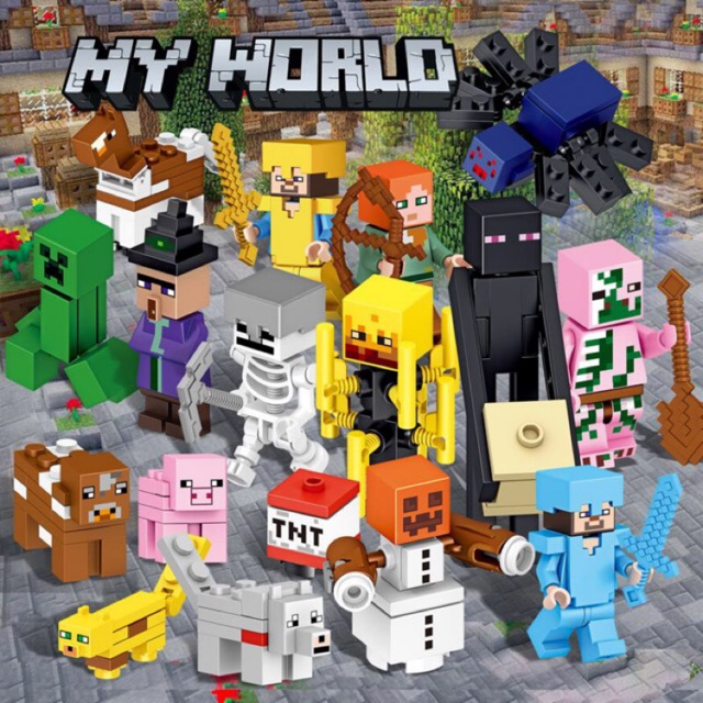 My World Building Blocks Bricks Compatible Lego Minecraft Educational Toys