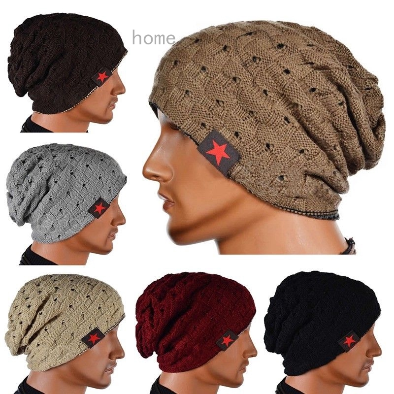 5ae99229440ca ProductImage. ProductImage. Men Women Knit Baggy Beanie Oversize Fashion  Winter Hat ...