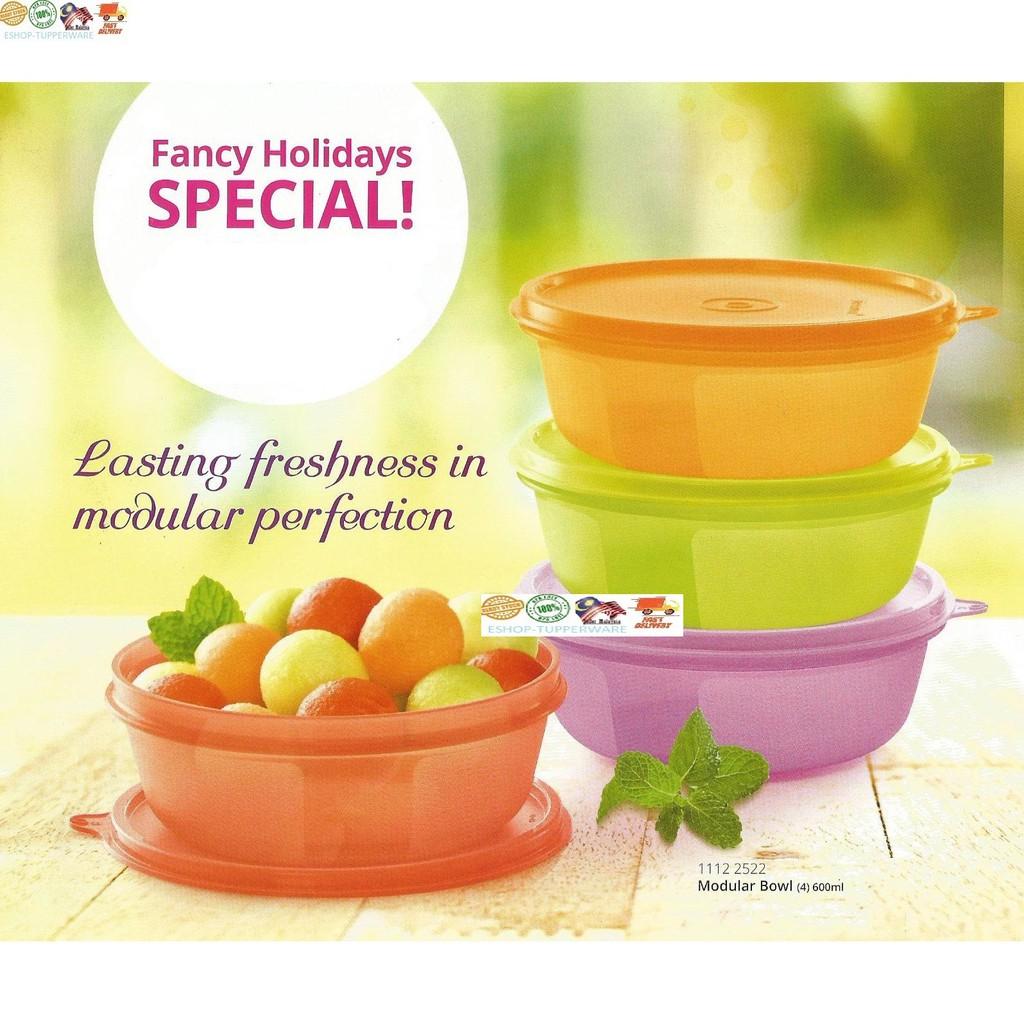 Tuppeware modular bowl 600ml & 1L (LOOSE)