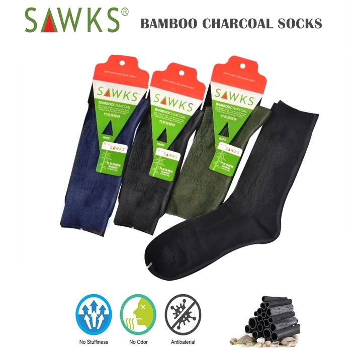 MALAYSIA- SPASANG STOKIN LELAKI ARANG BULUH Men's Bamboo Charcoal Crew Socks