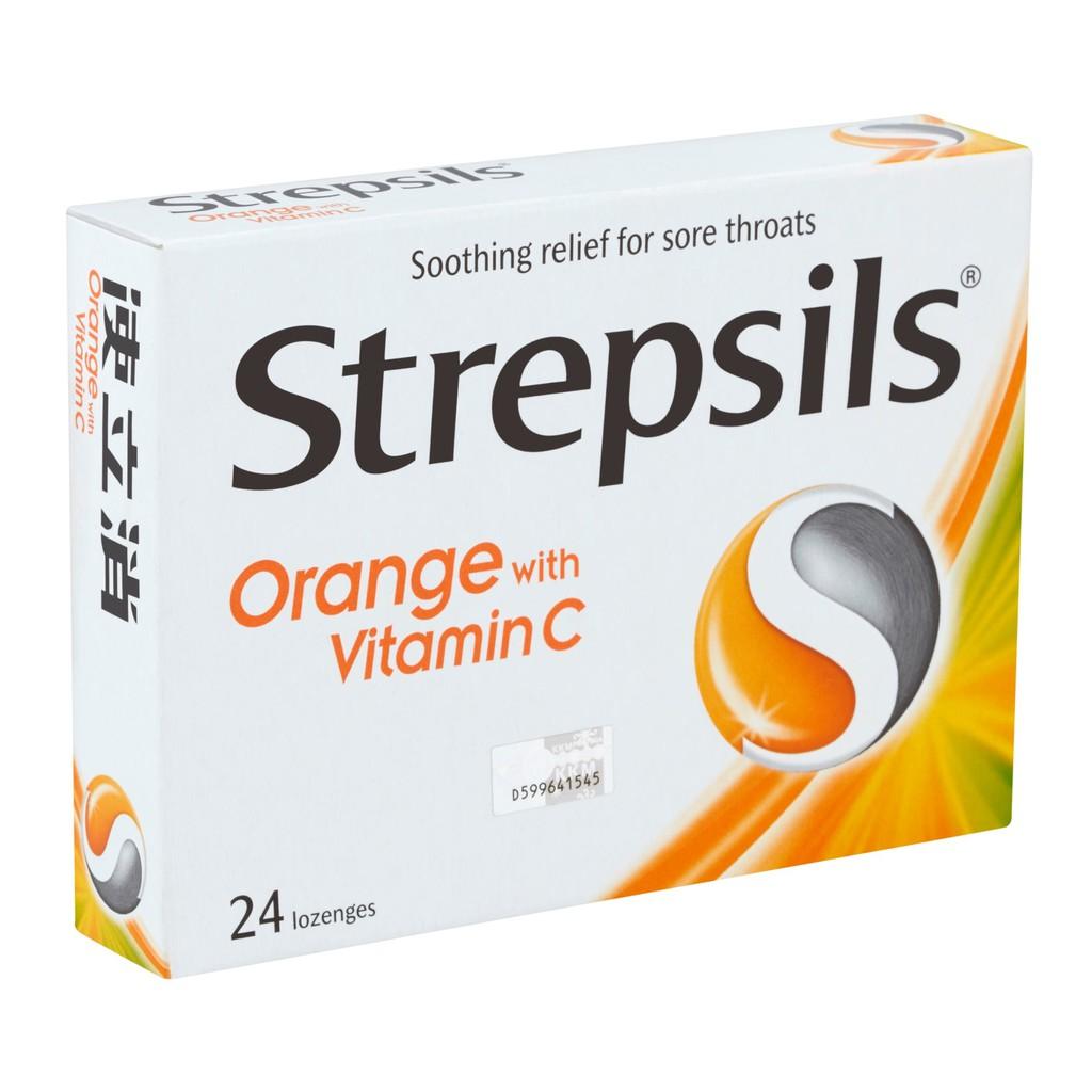 Strepsils Orange Vit C (24 Lozenges 100g)