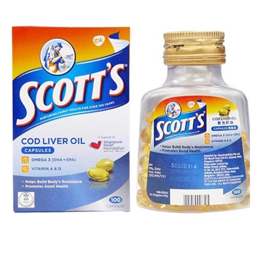 Scotts Pure Cod Liver Oil 100 Capsules