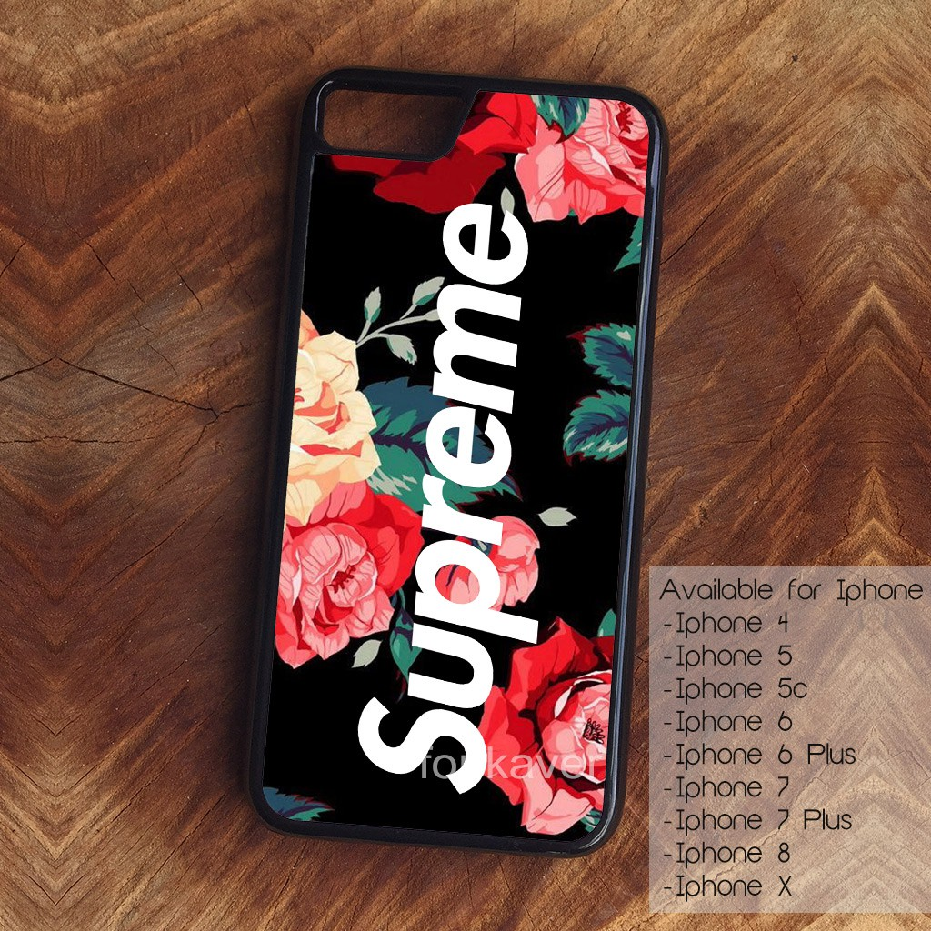 online retailer f78d0 60194 Supreme for Iphone 4 5 5s 6 7 8 X Phone Case Casing