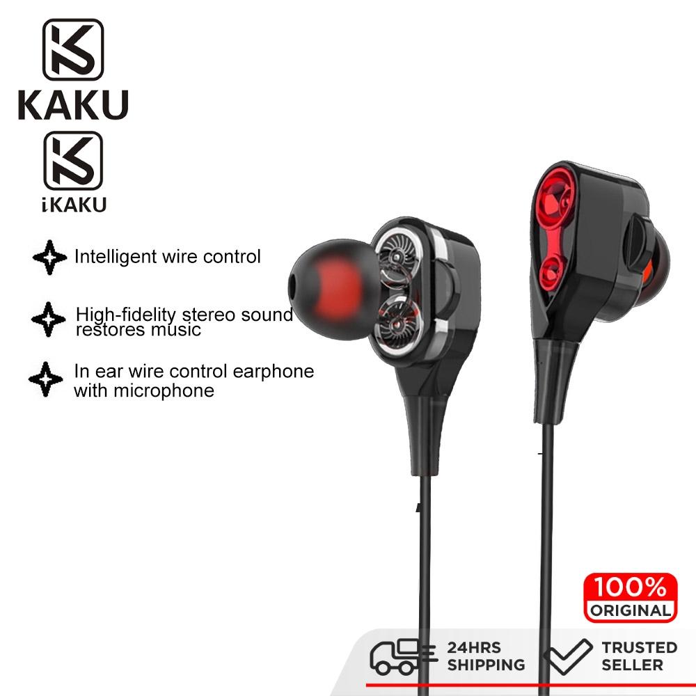 IKAKU KAKU MUYA  3.5mm Wired Earphone Earphones Headphone Audio High Fidelity Stereo  Smartphone Tablet Laptop Android