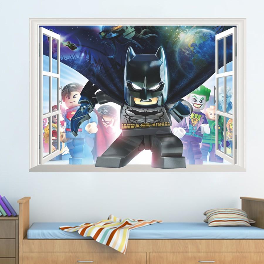 Batman Removable Wall Sticker Vinyl Home Decor Mural Kids Bedroom Wall Decals!