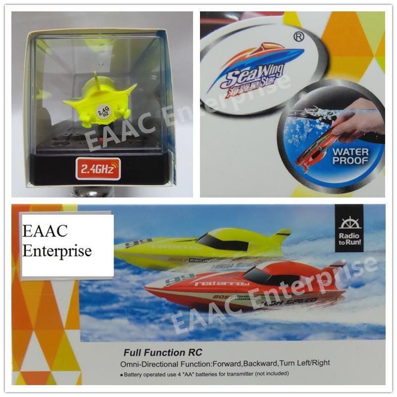 CreateToys Seawing Mini RC Boat 2.4Ghz Yellow
