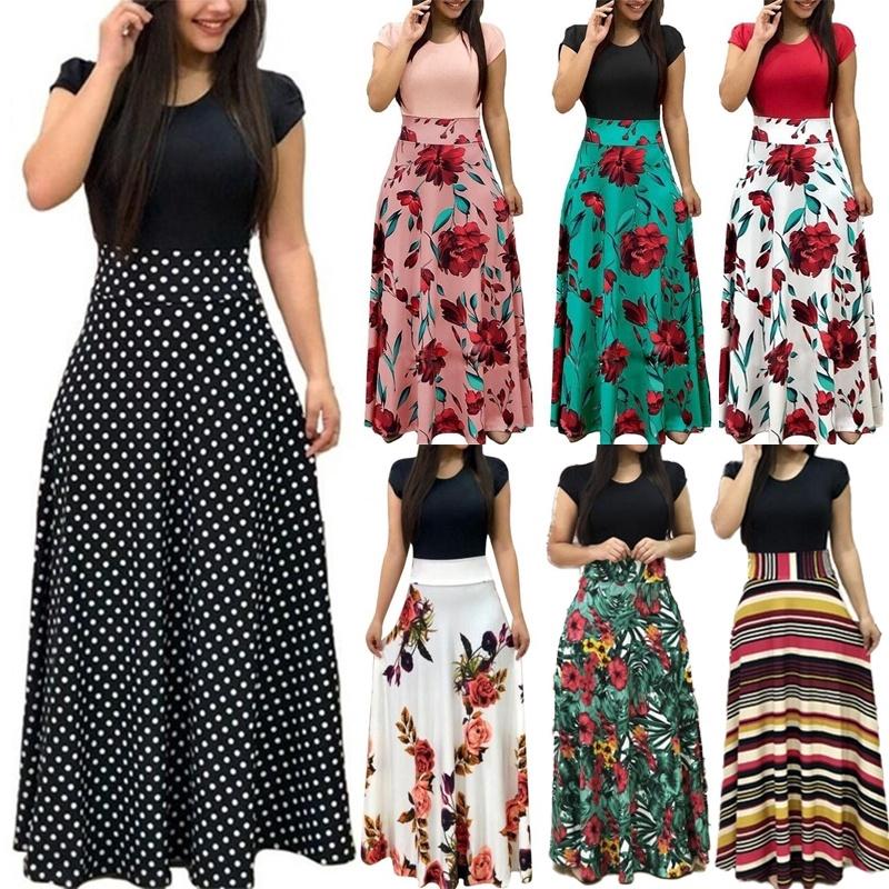03eee17571 Women's Summer Sexy Casual Boho Long Maxi Party Beach Dress Vest Sundress |  Shopee Malaysia
