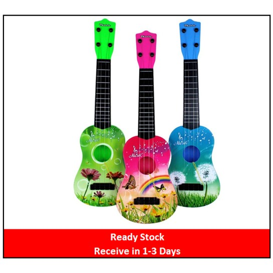 Colorful Kids Ukulele 4 Strings Play Simulated Guitar Musical Instrument Toy