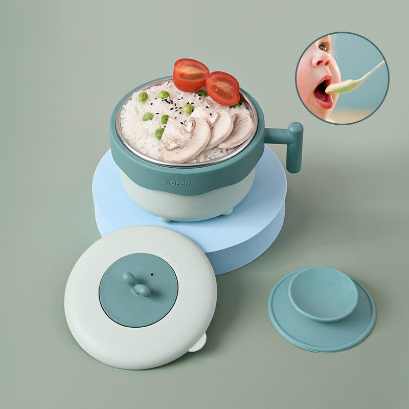 GDeal Stainless Steel Baby Feeding Tableware Anti Scalding Toddlers Porridge Food Bowl