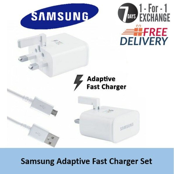 Samsung Fast Charger 15W-9V 3 Pin Adapter With Micro Cable