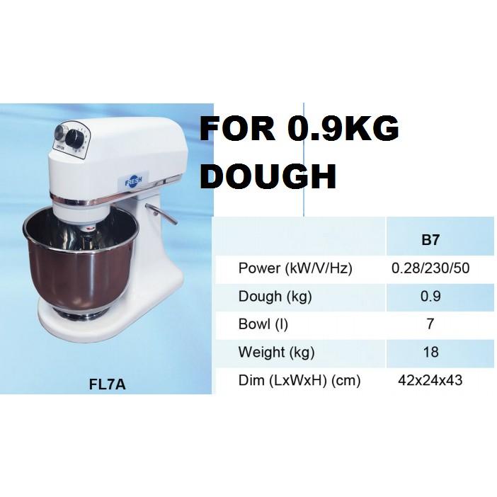 280W 0.9KG DOUGH 7L FRESH B7 DOUGH FLOUR MIXER