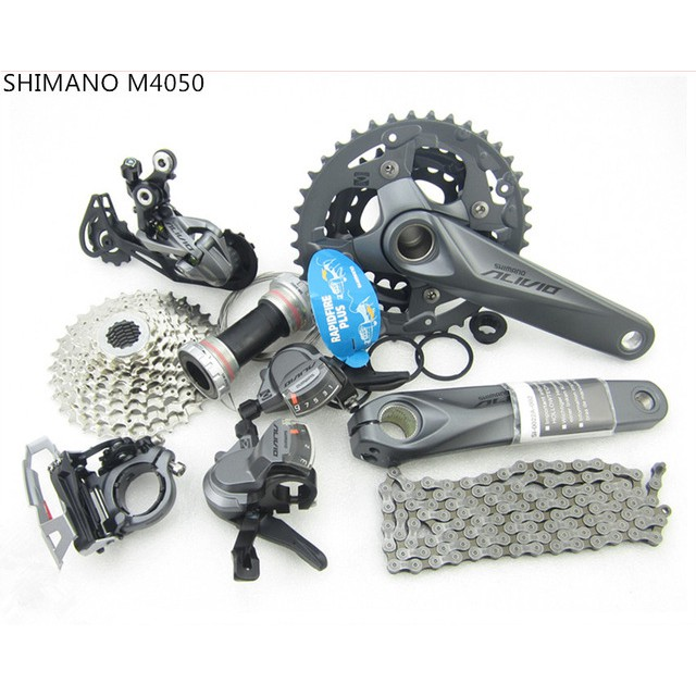 SHIMANO Alivio M4050 M4000 Groupset MTB Bike 3x9 Speed Group Set 170mm 7pcs