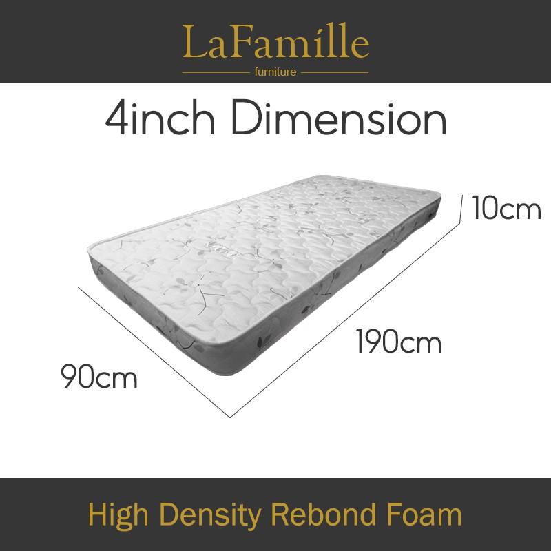 KitchenZ Single Mattress Student High Density Rebond Foam Mattress - Single Size