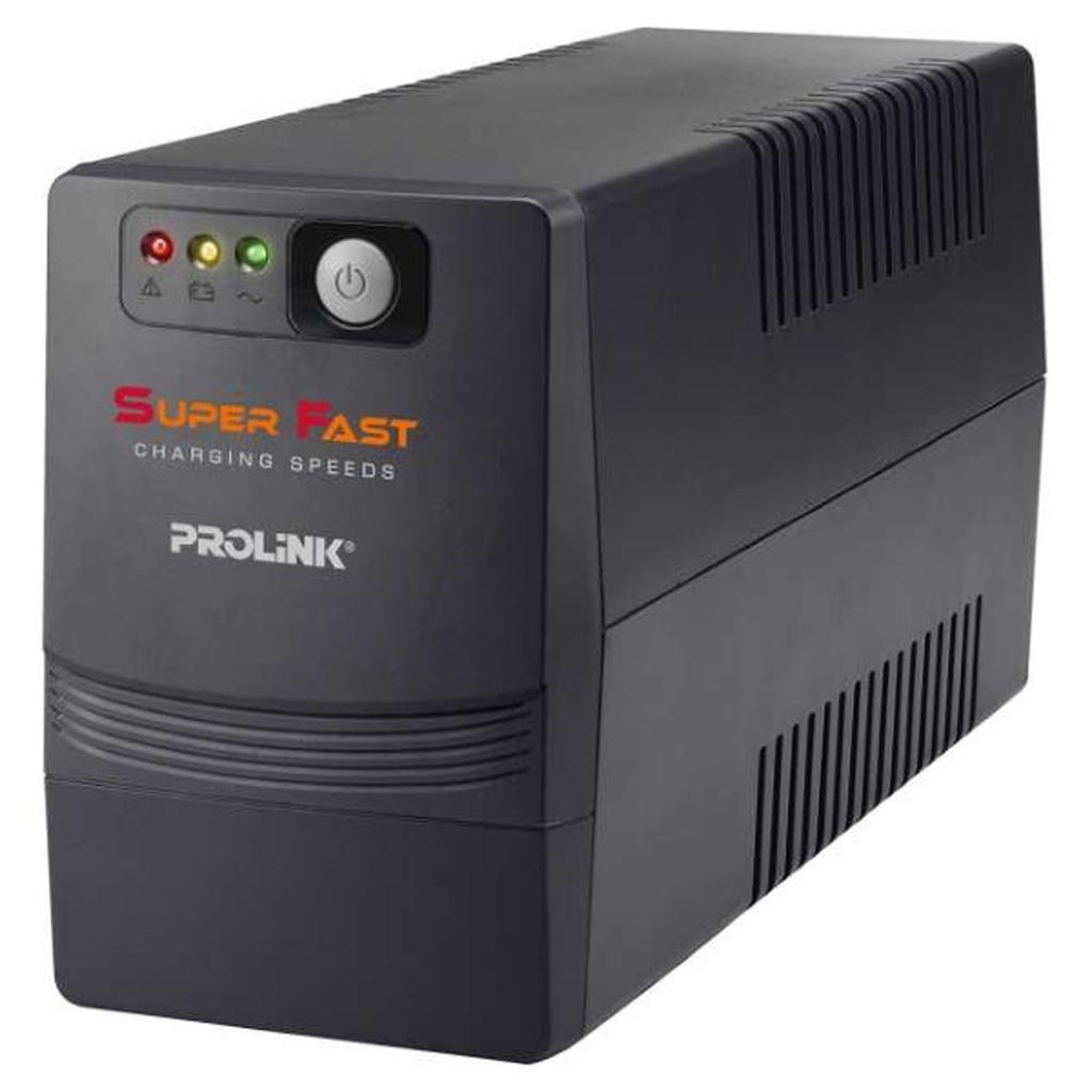 PROLiNK 650VA Super Fast Charging UPS with AVR 2x Universal Output Sockets PRO700SFC