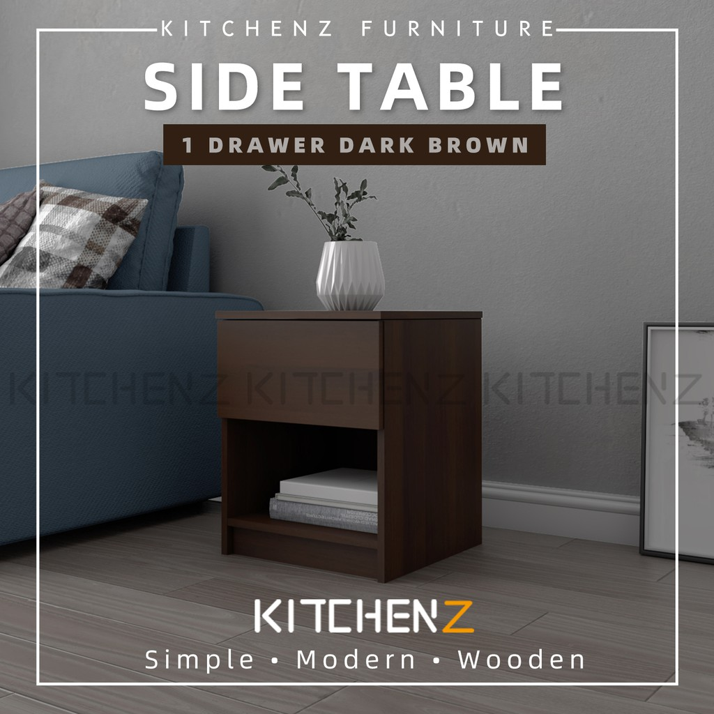 Kitchen Z 1.5FT Side Table With 1 Drawer and 1 OpenStorage...
