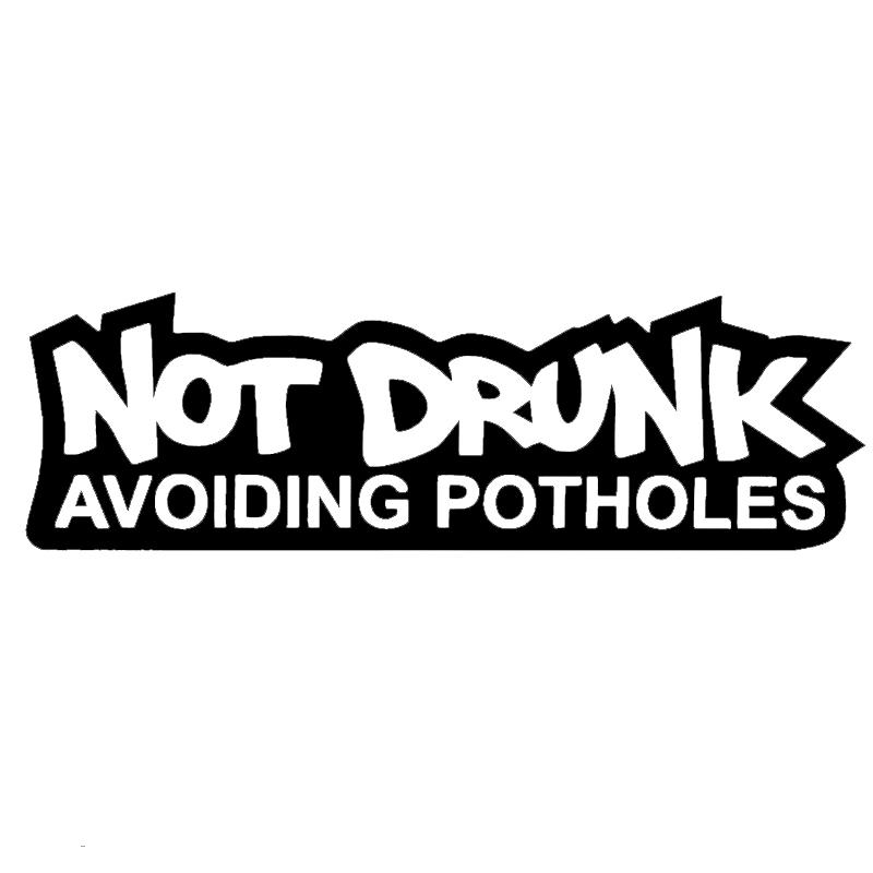 Not Drunk Avoiding Potholes Decal Sticker