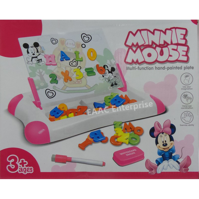 Minnie Magnetic Learning Case Drawing Board Alphabet ABC and Numbers