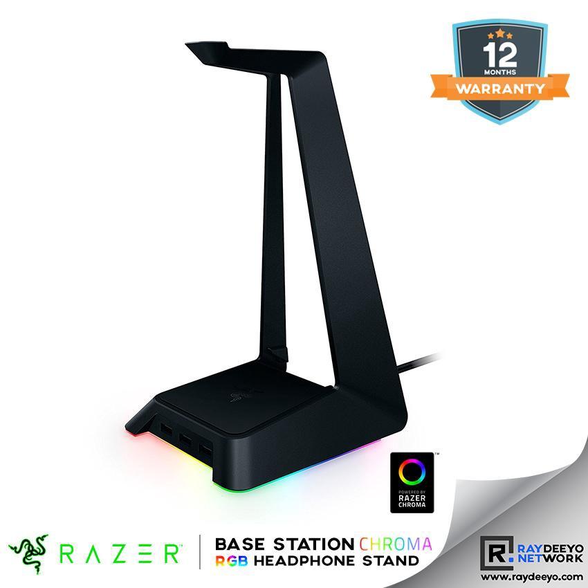 Razer Base Station Chroma - RGB Headphone Stand + USB Hub [16 8Mil  Intelligent RGB illumination]