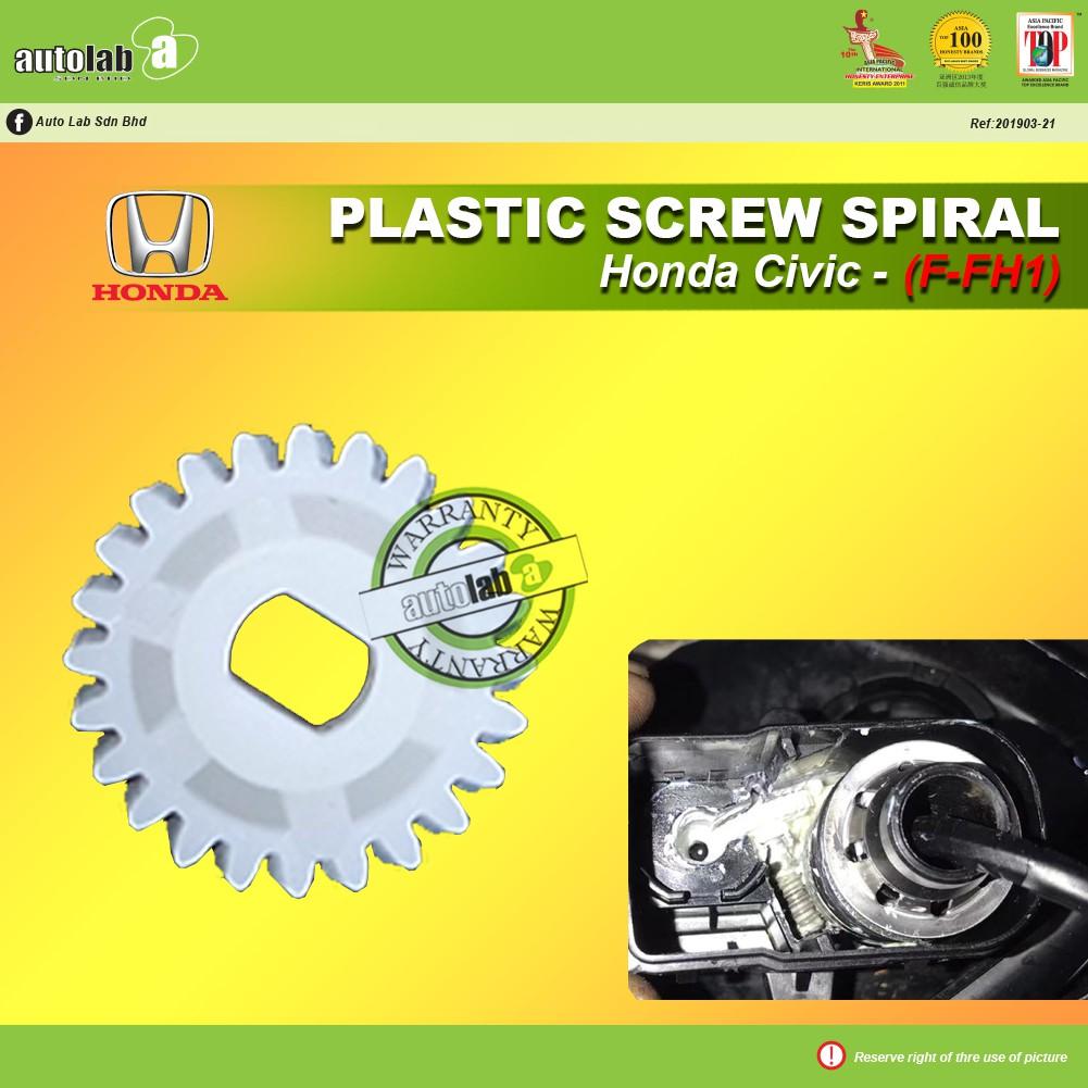 Side Mirror Replacement Plastic Screw Spiral (1 pcs) - Honda Civic (F-FH1)