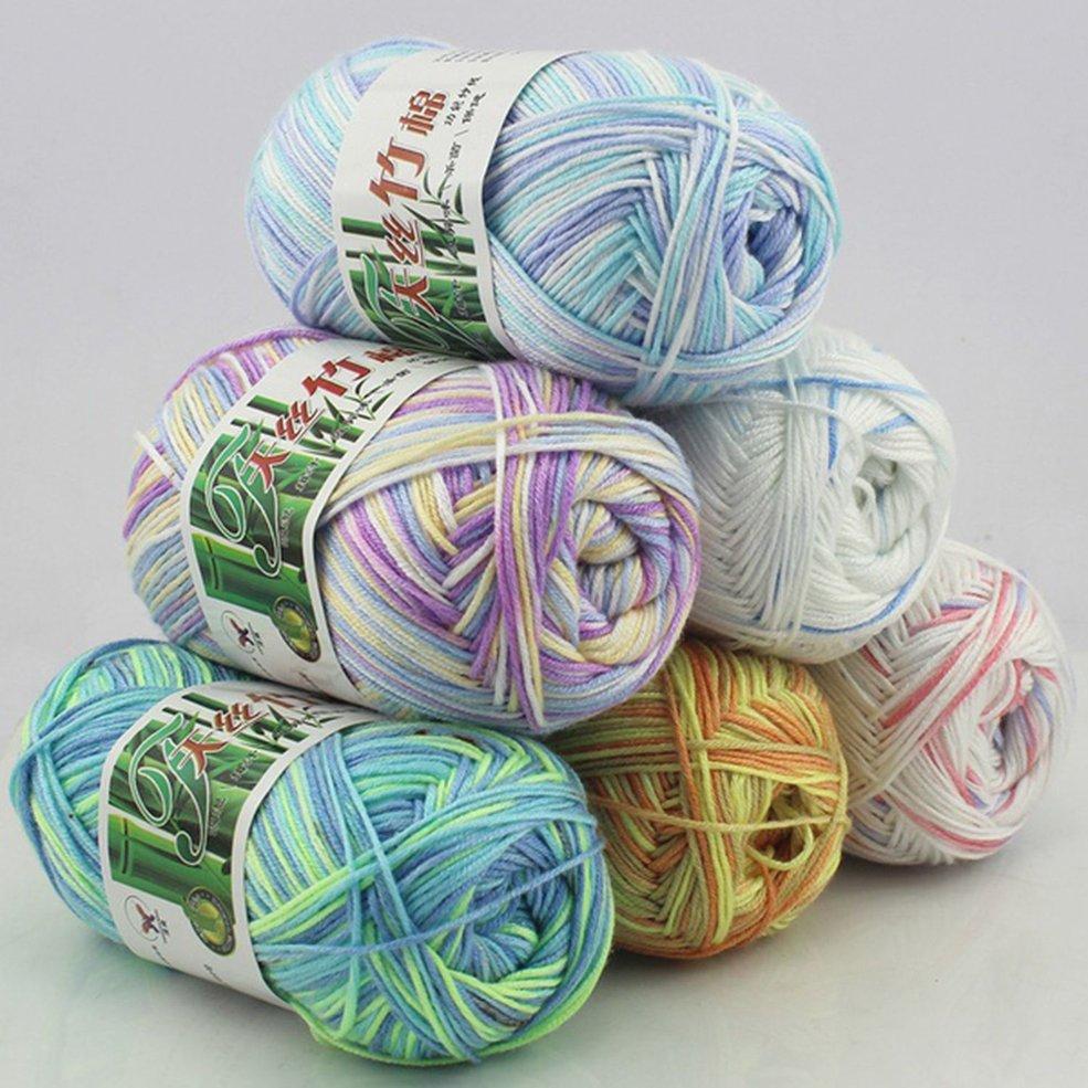 Bamboo Cotton Yarn Multi Strand Thread Hand Knitting Yarn Crochet Baby Yarn