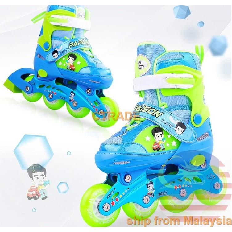 Kids Adult 🌟Stock Rollerblade Inline Skate + PU Wheel Roller Blade Kasut  Roda  4fe2737aa2