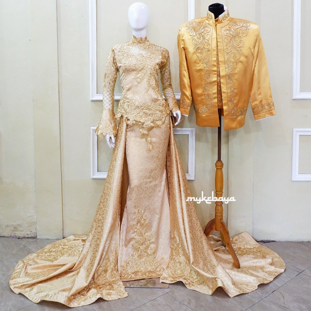 THE CHEAPEST 9D LACE WEDDING KEBAYA, FREE WEDDING SLOPE