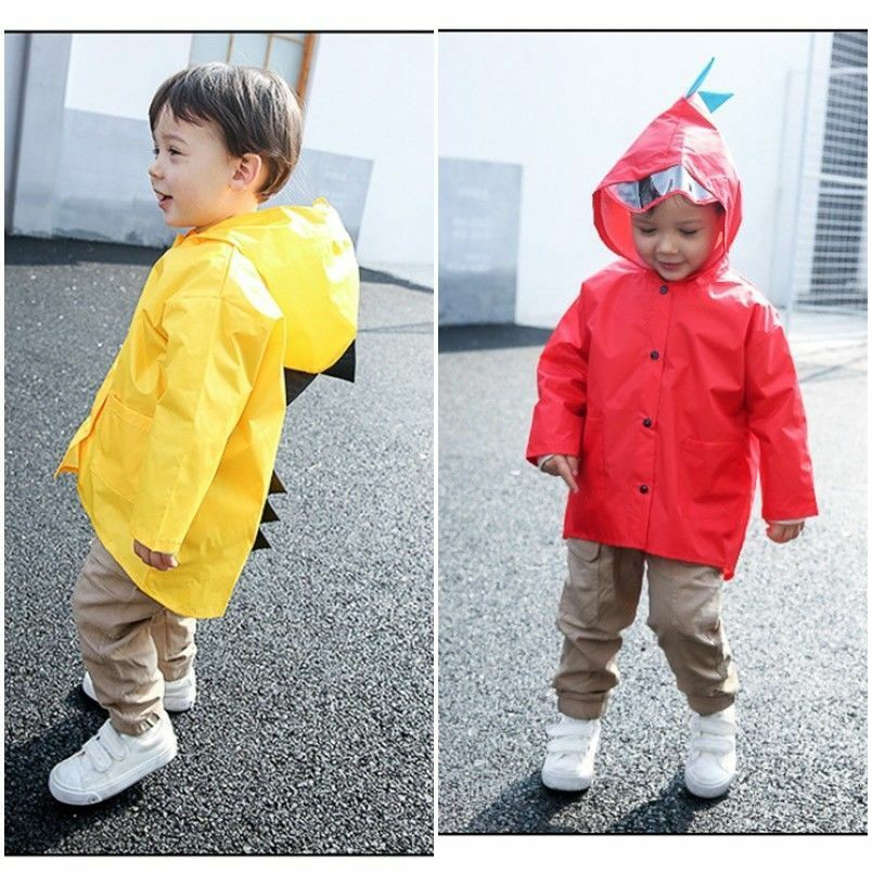 Cartoon Dinosaur Rain Coat Poncho Rainwear Waterproof Jacket Baby Kids Children