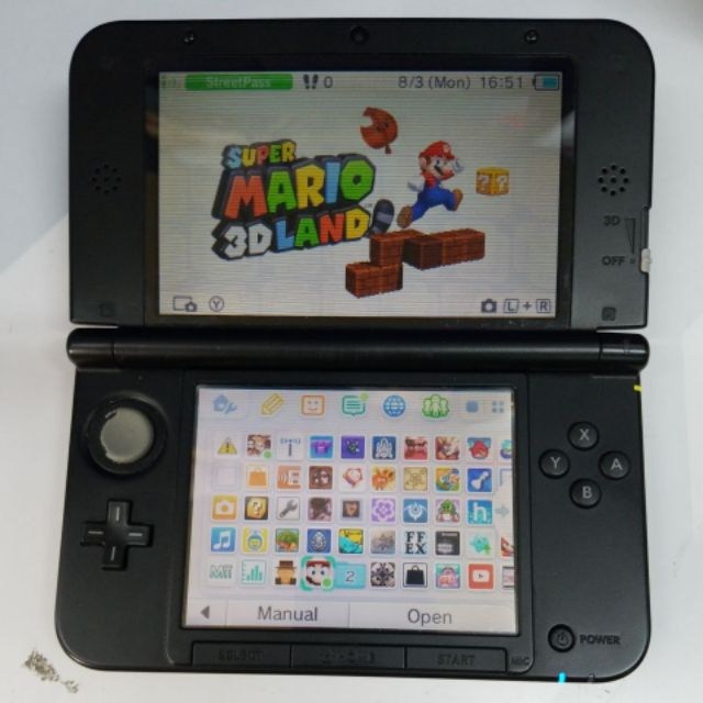 Nintendo 3DS XL Black Console JailBreak Version (2ND)FREE32gb FREE pouch FREE ADAPTER FREE 20GAME