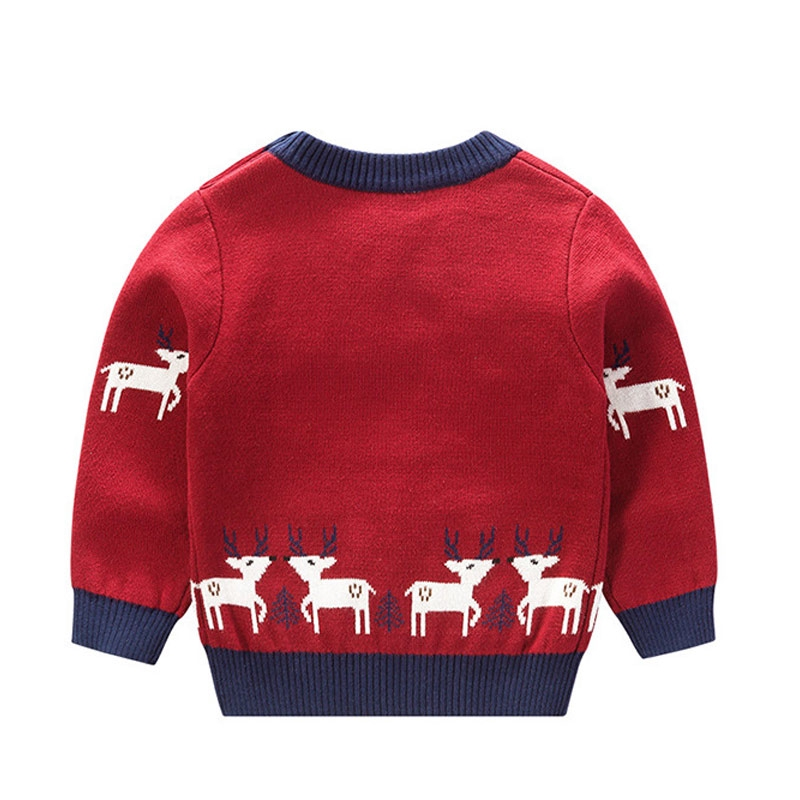Christmas Baby Boys Girls Sweaters Winter Toddler Baby Clothes With Deer Kids Christmas Sweater Children Cardigan Tops Shopee Malaysia