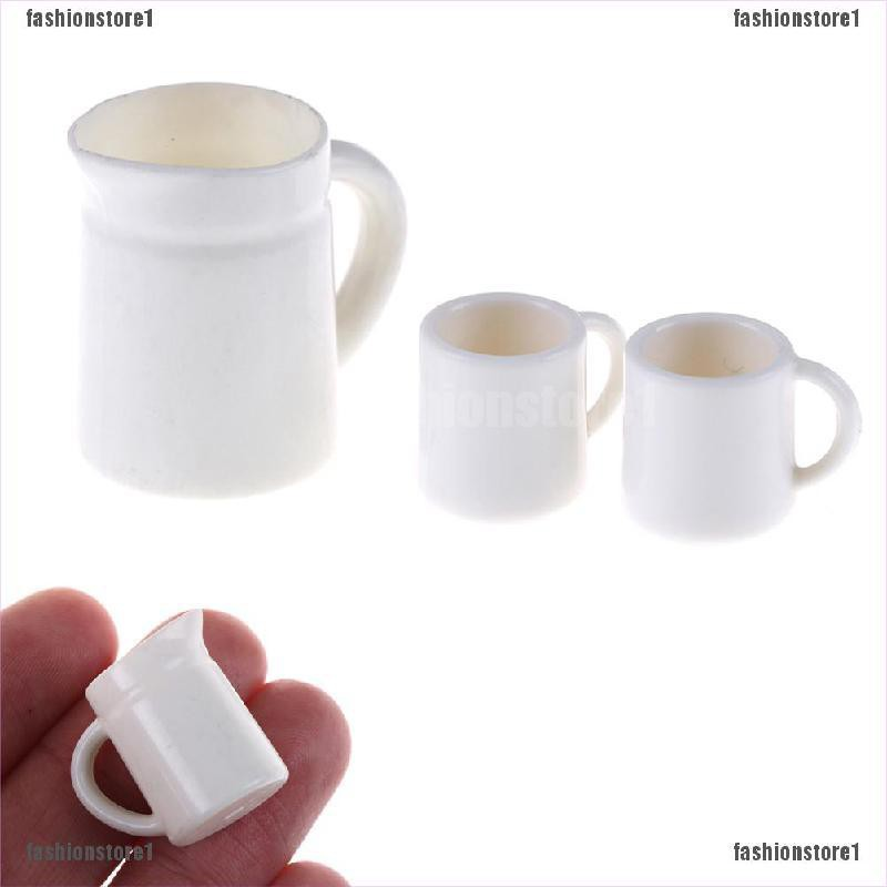 1:12 Dollhouse Miniature Ceramics Basin White Pots Model Accessories HU