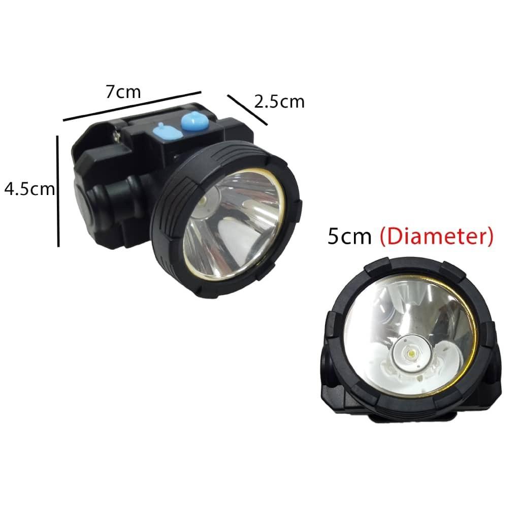 Rechargeable High Power Glare LED Headlight Headlamp 2 Mode USB