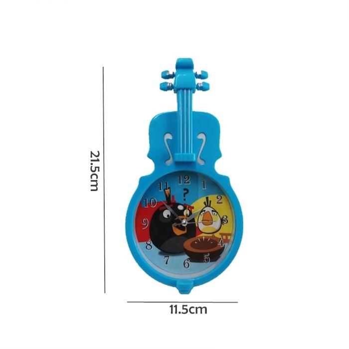 MALAYSIA- JAM LOCENG VIOLIN GITAR / Violin Style ABS Plastic Bedside Guitar Alarm Clock
