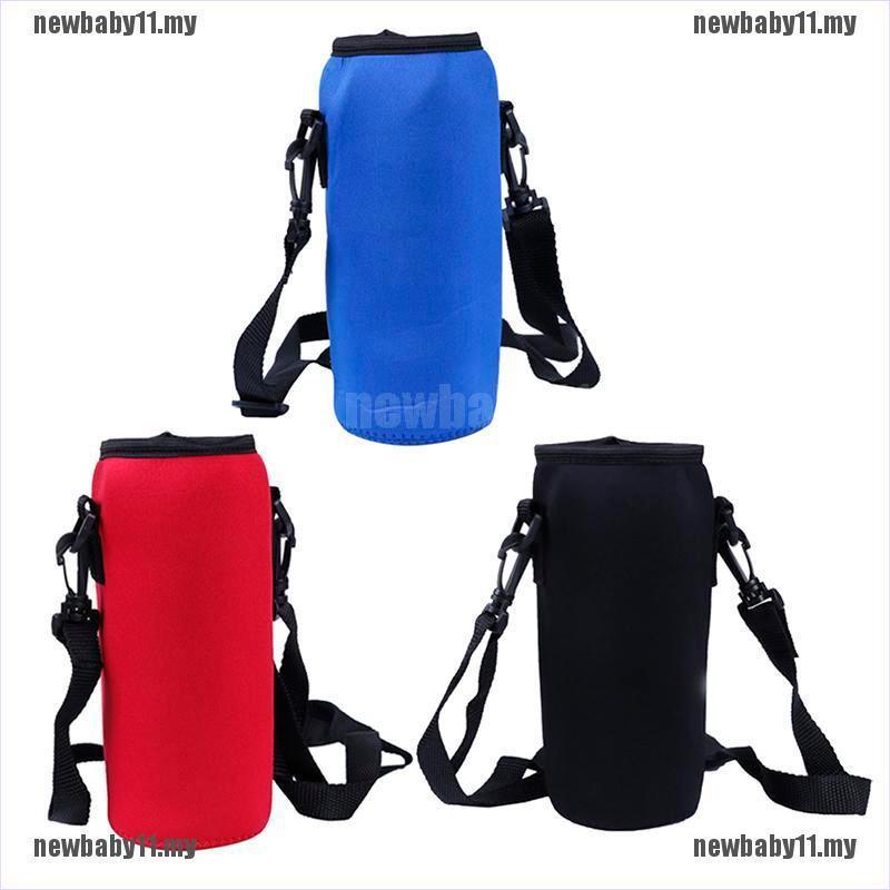 [NB11+STOCK]1000ml neoprene water bottle carrier insulated cover bag holder strap travel