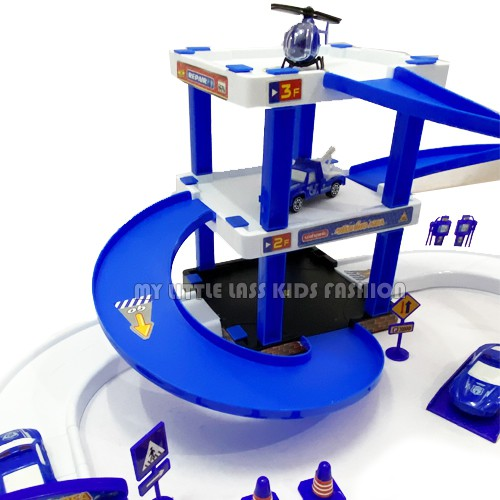 Assembling Simulation City Police Multi-Functional Parking Diy Car Parking Toys for boys