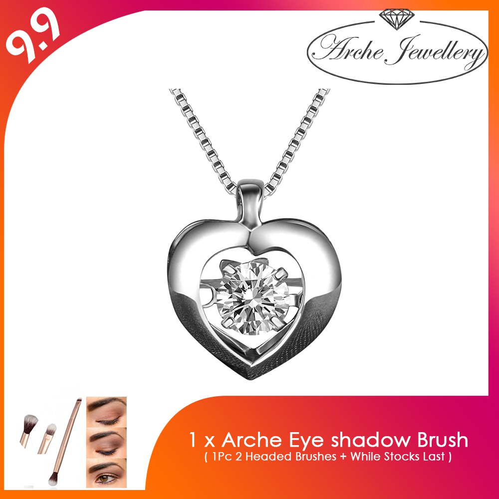 Arche Jewellery Eagle Gold Plated Necklace Shopee Malaysia Kalung Love Happiness