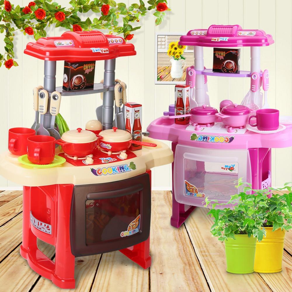Kids Kitchen Set Children Toys Large Kitchen Cooking Simulation