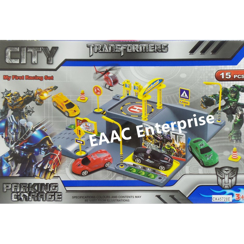 Transformers Cars Racing Parking Garage Set 15pcs Toys for boys