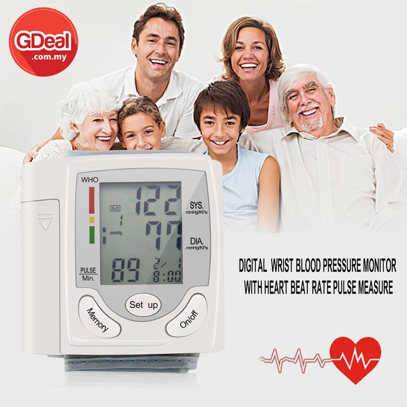 GDeal  Automatic Digital Wrist Watch Blood Pressure Monitor Heart Pulse Device Mesin Darah Tinggi