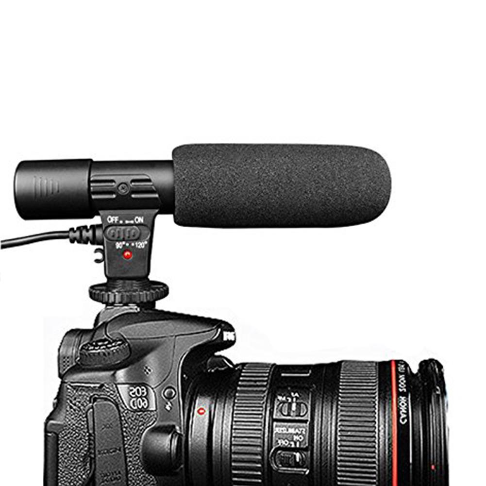 MIC-01 Microphone Recording Sound Studio Accessories Black Digital SLR  Camera DV Stereo Professional Interview