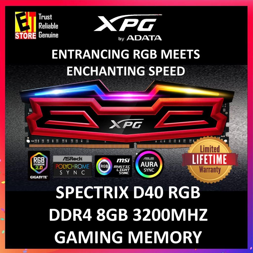 ADATA SPECTRIX D40 8GB DDR4 3200 RGB (XPG) (AX4U320038G16-SRS)