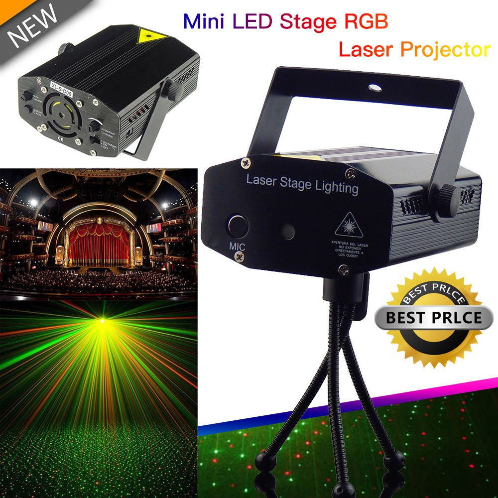 Led Weihnachtsbeleuchtung Laser.Rgb Dj Disco Led Light Mini Laser Projector Stage Lighting Xmas Show Party