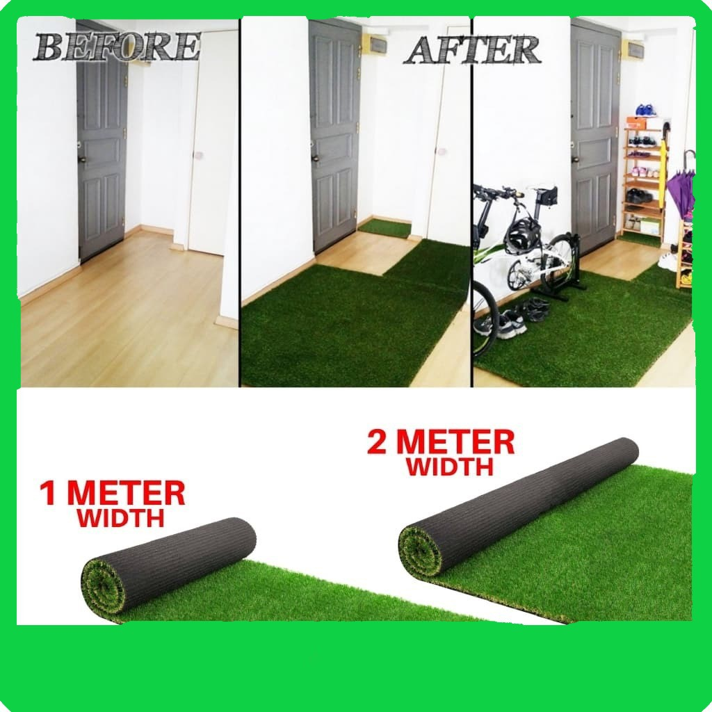 30MM Artificial Grass Premium Quality Carpet Grass Karpet Rumput Tiruan Murah For Indoor & Outdoor 1mx1m