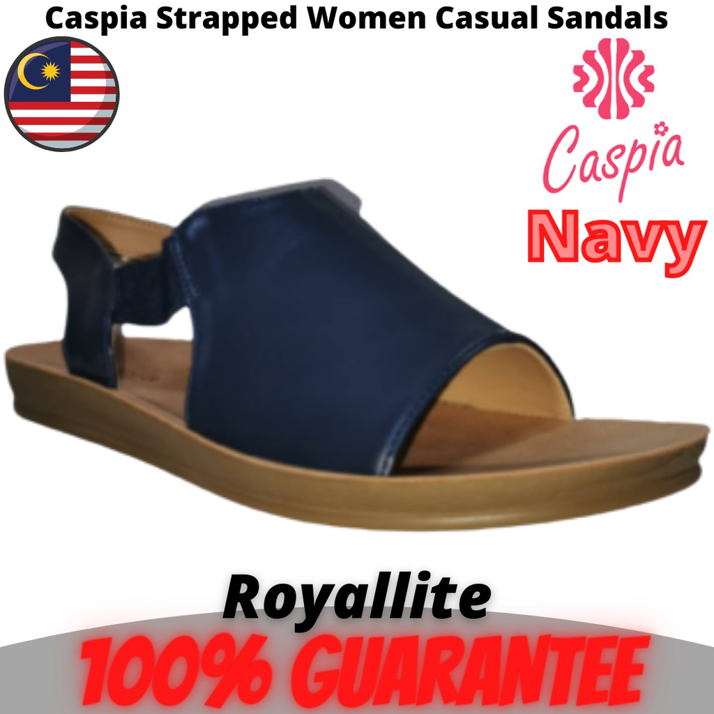 CASPIA Ladies Comfort Casual Sandals(CW-09) Black & Navy