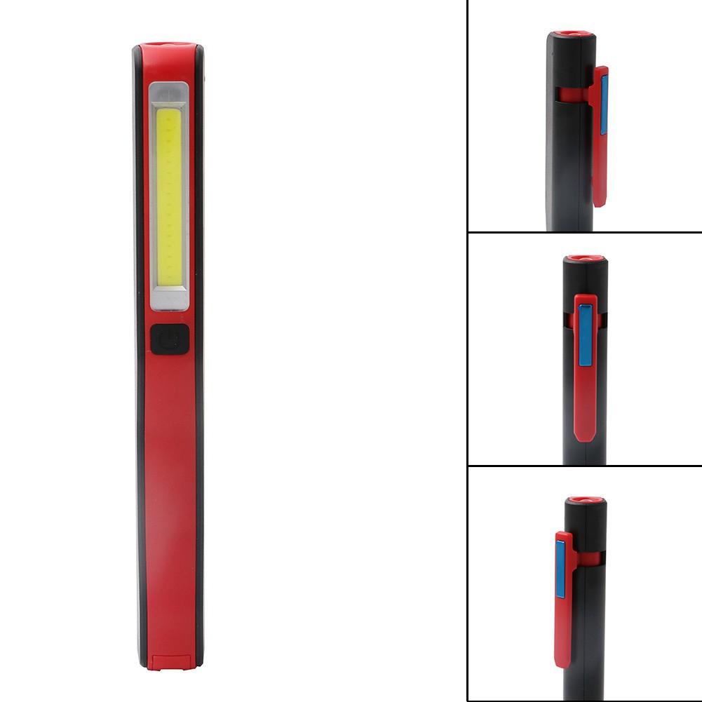 Portable COB LED Pen work Light Magnet USB Rechargeable Work Torch Flashlight FT