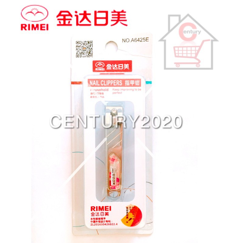 RIMEI Nail Clipper Manicure Care Nail Cutter High Grade Stainless Steel Nail Cutter A6425E